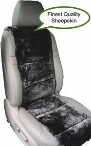 Sheepskin Seat Covers One Seat Vest Insert Best Quality Australian Black Color