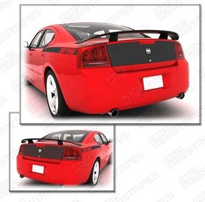 Dodge Charger Daytona Trunk Deck Blackout Stripe Decal 2006 2007 2008 2009 2010
