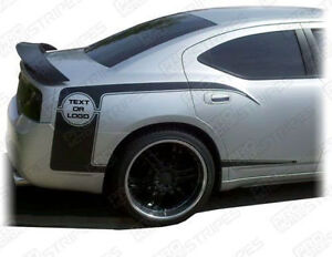 Dodge Charger Rear Quarter Side Accent Stripes Decals 2006 2007 2008 2009 2010