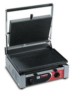 Sirman Cort R Single Panini Grill W Grooved Top Grooved Bottom