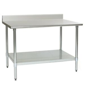 Eagle Group Spec Master Work Table 60in X 30in Ss Top 4 1 2in Backsplash