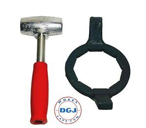 4lbs Red Dayton Type Lead Hammer And Bullet 10 Side Tool Set