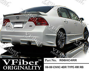2006 2011 Honda Civic 4dr Body Kit Type Rr Rear Bumper