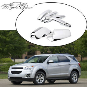 For 2010 2017 Chevy Equinox Chrome Side View Mirror 4 Door Handle Cover W 1 Kh