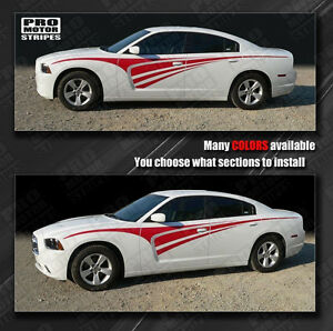 Dodge Charger Tribal Rally Racing Side Stripes Decals 2011 2012 2013 2014