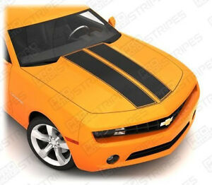 Chevrolet Camaro Hood Cowl Trunk Dual Stripes Decals 2010 2011 2012 2013