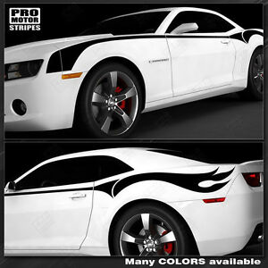 Chevrolet Camaro Firebreather Side Throwback Stripes Decals 2010 2011 2012 2013