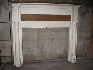 Antique Pine Fireplace Mantel Primitive 54 1 2 Wide X 50 1 4 High Overall