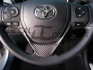 2014 2016 Corolla Carbon Fiber Steering Wheel Accent Decal Cover Wrap Toyota