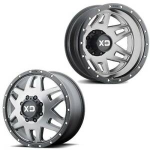 17x6 5 Xd130 Xd Machete Gray W black Ring Dually Wheels 8x200 Set Of 4