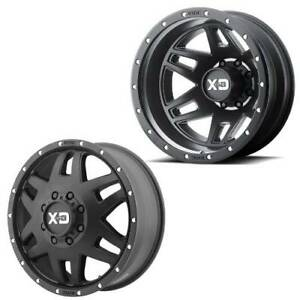 17x6 5 Xd130 Xd Machete Satin Black Dually Wheels 8x210 Set Of 4