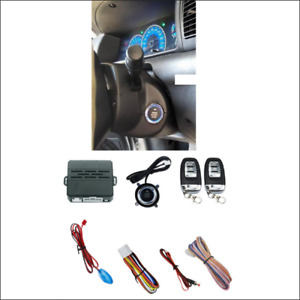 Car Security Alarm System Audible Alarm Ignition Engine Start Button Remote Kit
