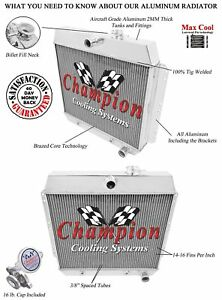 1949 1952 Chevrolet Styleline Special Deluxe 3 Row Champion Dr Radiator