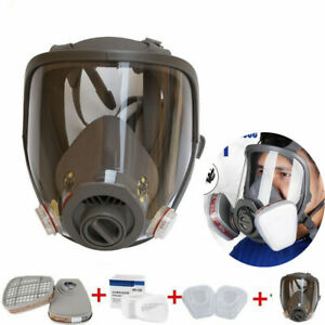 Protective Gas Dust Mask Full Face Facepiece Respirator Painting Spraying Filter
