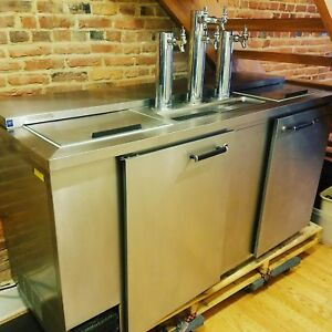 Beverage Air 69 Inch Stainless Steel 5 Tap 3 Keg Kegorator Made In Usa