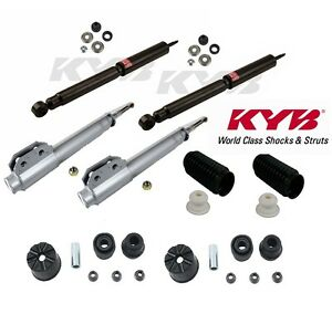 4 kyb Excel g Struts shocks Front Mount boot 2 front 2 rear For Mustang
