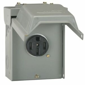 50 Amp Temporary Rv Power Outlet Housing Weather Proof Outdoor Receptacle Plug S