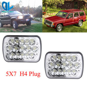 2x New Pro Led 5 X 7 Led Headlight Replacement For Jeep Cherokee Xj Trucks