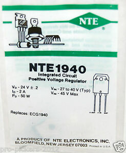 New Nte Nte940 Ic Integrated Circuit Positive Voltage Regulator Equiv To Ecg1940