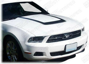 Ford Mustang Hood Cowl Scoop Accent U stripe Decal 2010 2011 2012 2013 2014