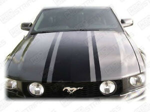 Ford Mustang Retro Style Hood Accent Stripes Decals 2005 2006 2007 2008 2009