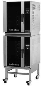 Moffat E32t5 2c Turbofan Double Stacked Electric Convection Oven W Stand