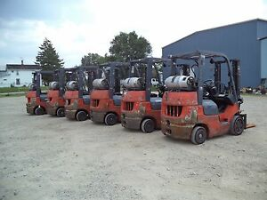 2005 07 Toyota Model 7fgcu20 4 000 4000 Cushion Tired Forklift 118 Lift