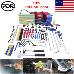 103x Us Pdr Rod Tools Paintless Dent Removal Dent Lifter Hail Dent Repair Kit