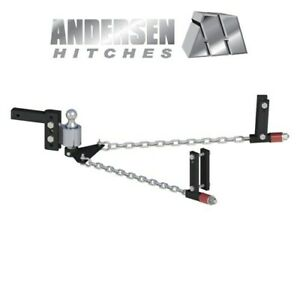 Weight Distribution Hitch 4 Drop Rise Andersen No Sway 2 0 Ball 3 6 Frame