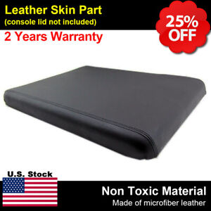 Center Console Armrest Leather Synthetic Cover For Dodge Ram 94 01 Black 19x15