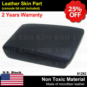 Fits 09 14 Acura Tsx Leather Center Console Lid Armrest Cover Upholstery Black