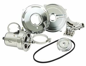 Chrome 75 Amp Alternator Conversion Kit With Pulley Belt Vw Beetle Bug Bus