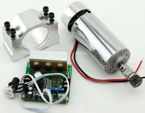 Update Cnc 0 4kw Spindle Motor Er11 Mach3 Pwm Speed Controller Mount 3 175mm