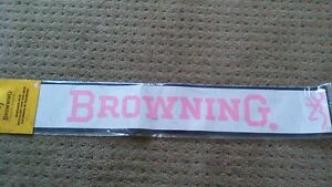 Browning Windshield Decal Pink With Buckmarks