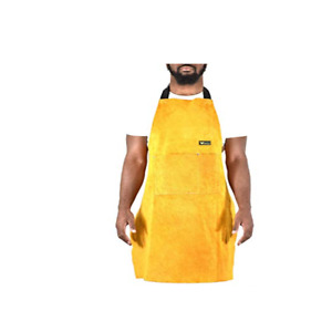 Apron Leather Dark Brown Welding Blacksmith Shop Protect Water Resistant