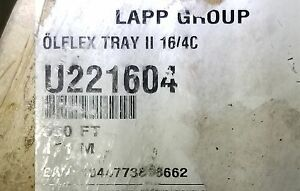 Lapp Kabel 221604 16 4c Olflex Tray Ii Flexible Tray Cable Tc er 1000v Blk 50ft