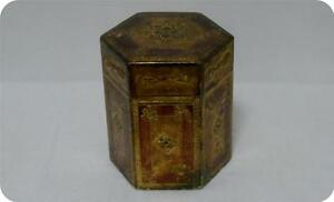 Vintage Italian Florentine Wood Gold Gilt Painted Six Side Box Tole Ware