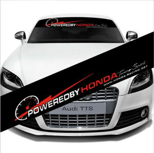 Car Front Rear Windshield Reflective Sticker Banner Decal Auto Powered By Honda
