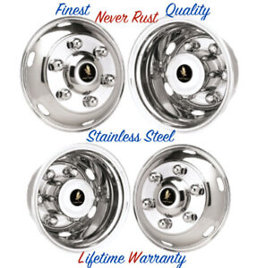 16 Mitsubishi Fuso 6 Lug Wheel Simulator Rim Liners Stainless Hubcap Covers
