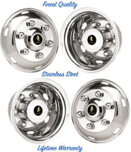16 Mitsubishi Fe145 6 Lug Wheel Simulator Rim Liners Stainless Hubcap Covers