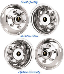 16 Mitsubishi Fe180 6 Lug Wheel Simulator Rim Liners Stainless Hubcap Covers