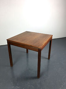 Vintage Mid Century Danish Modern Jens Risom Walnut Square End Side Table