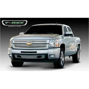 T rex Polished Upper Class 2pc Mesh Grille For Chevrolet Silverado 1500 07 13