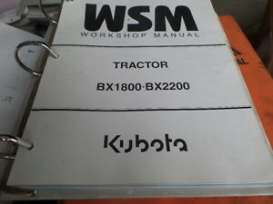 Kubota Bx1800 Bx2200 Tractor Repair Service Workshop Manual