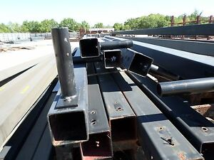 Steel Light Poles Sq Tube 5 x5 x3 16 W 1 Base Plate X 30 Long