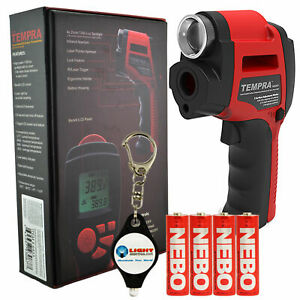 Nebo Tempra 6433 Laser Ir Thermometer Zoom Spotlight Free Keychain Light