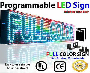 Led Sign Full Color Programmable Message Neon Display Size 6 X 63 Outdoor