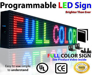 Full Color Led Open Sign Outdoor Programmable Scrolling Neon Text Image 6 x 76
