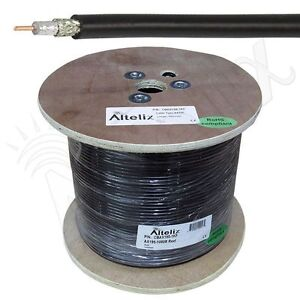 Altelix Ax195 Lmr195 Type Low Loss Coaxial Cable 1000 Foot Reel 1k Feet Spool