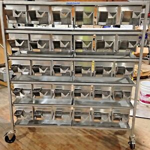 Allentown Rodent 30 Cage System Medical Stainless Steel Interchangeable Lab Rat